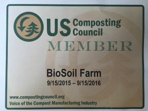 BioSoil Farm's UC Composting Council Membership Certificate